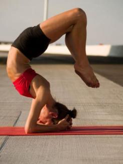 scorpion headstand.