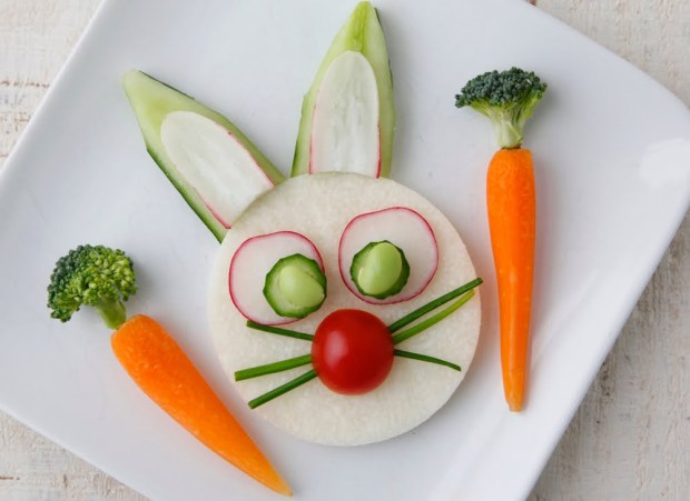 fruit and veggie bunny