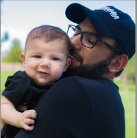 smiling baby and dad - Wonderful World of Bree