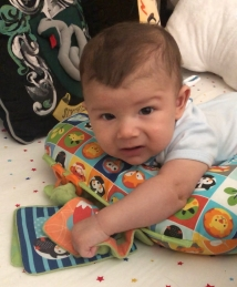 baby on Boppy Pillow