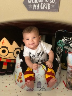 Baby in Harry Potter Outfit