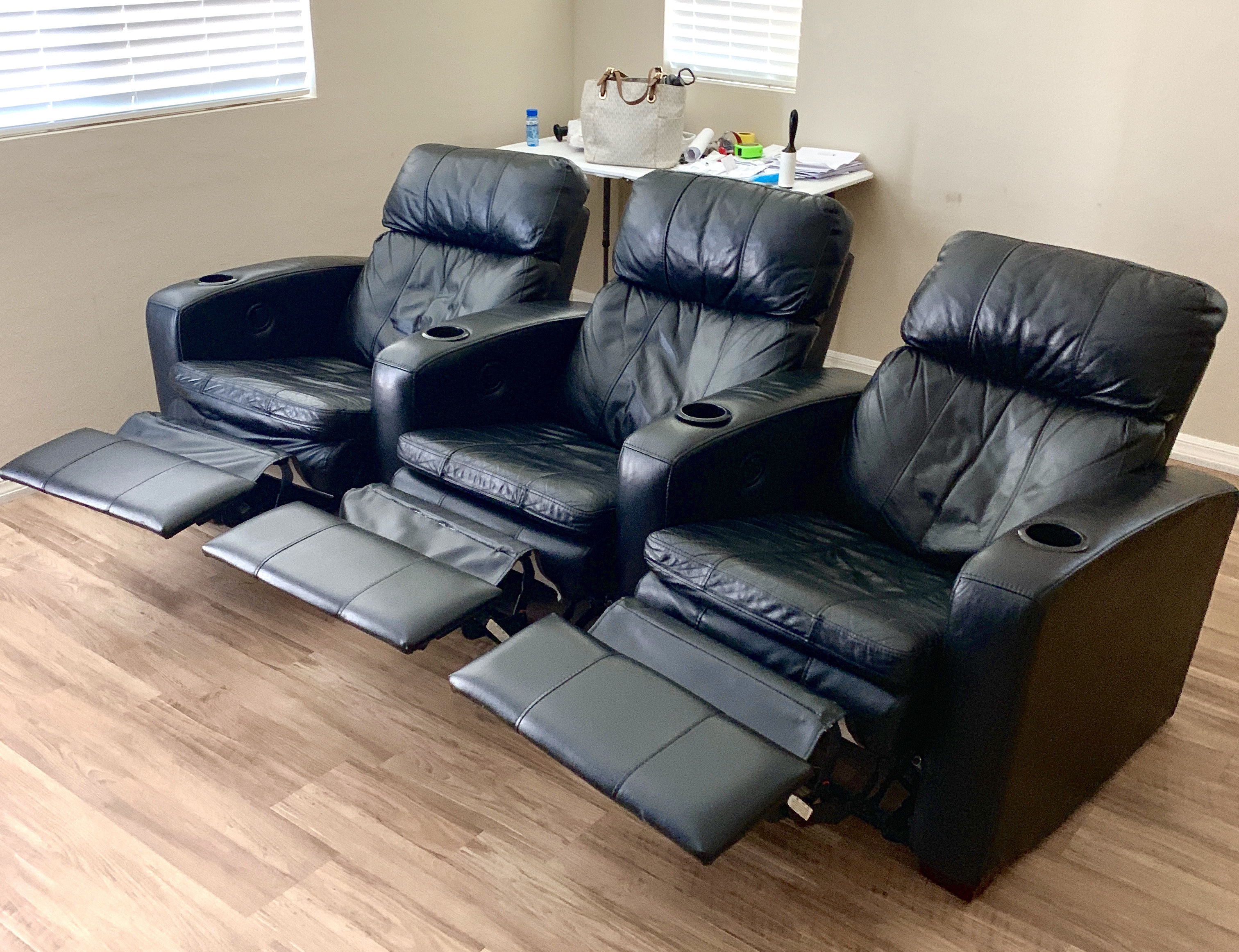 DIY movie room chairs