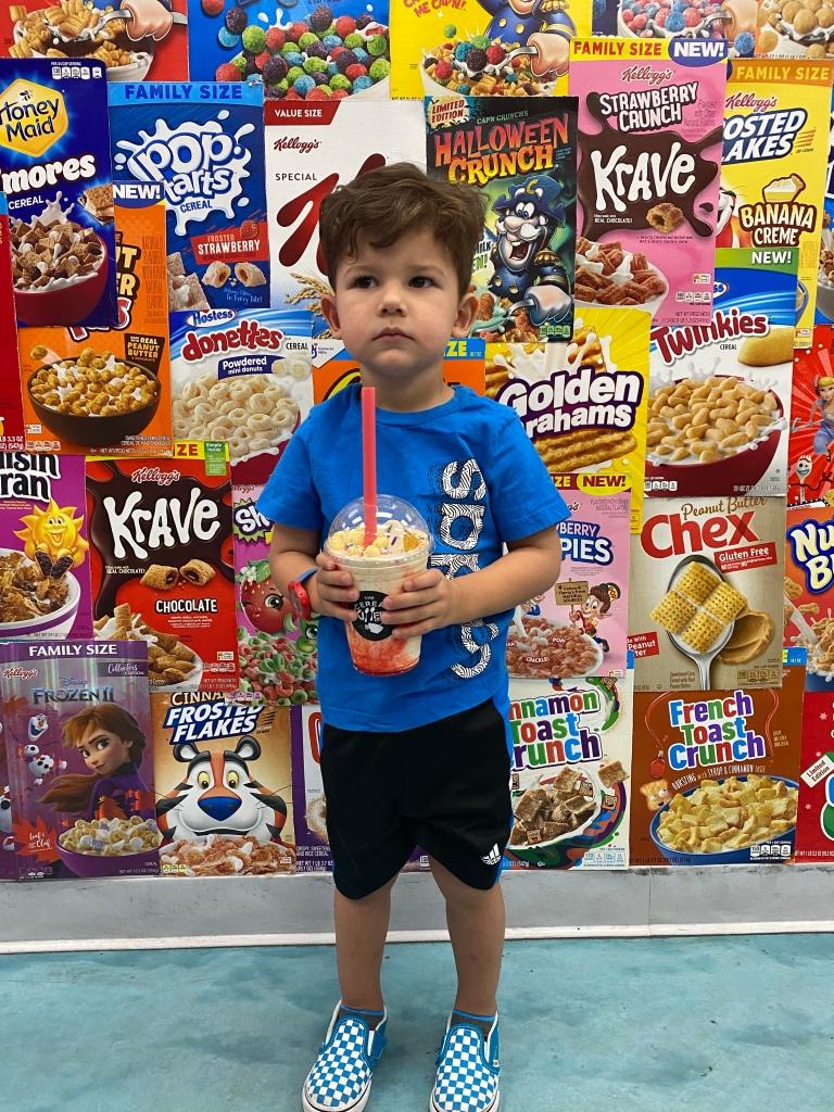 Boy at The Cereal Killerz Kitchen