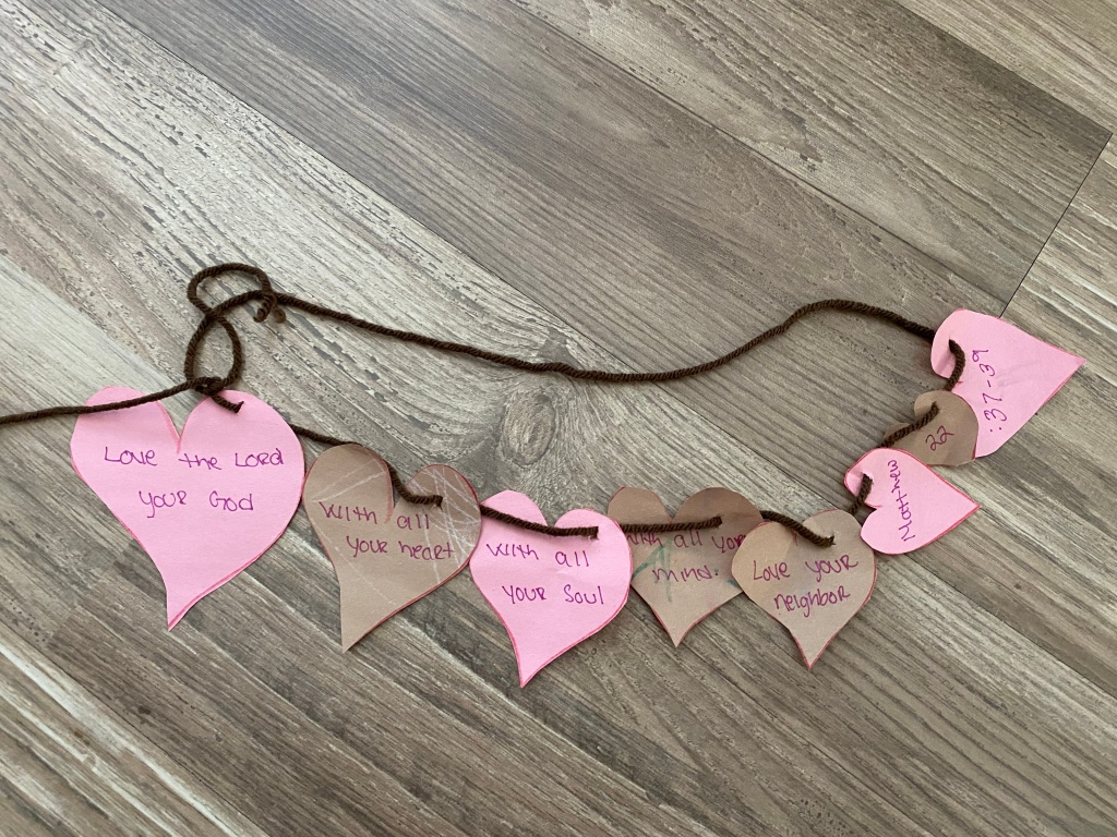 sunday school at home for toddlers - hide it your heart necklace